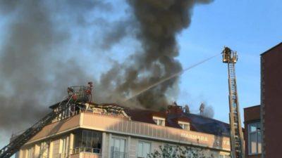 Evde Mangal Keyfi Yangınla Sonuçlandı