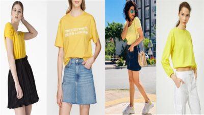 Sarı Tişörtün Altına Ne Giyilir?