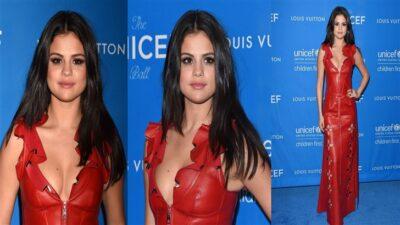 Selena Gomez Sexy Kırmızı Elbisesiyle Büyüledi